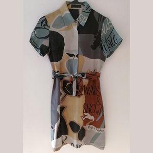 BNWOT Burberry prorsum 100% print silk dress